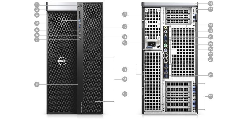 Picture of Precision 7920 Tower Workstation Platinum 8180M