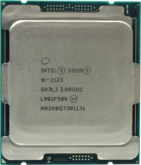 Picture of Intel Xeon W-2123 (3.6GHz, 3.9GHz Turbo, 4C, 8.25MB Cache, HT, (120W) ) DDR4-2666