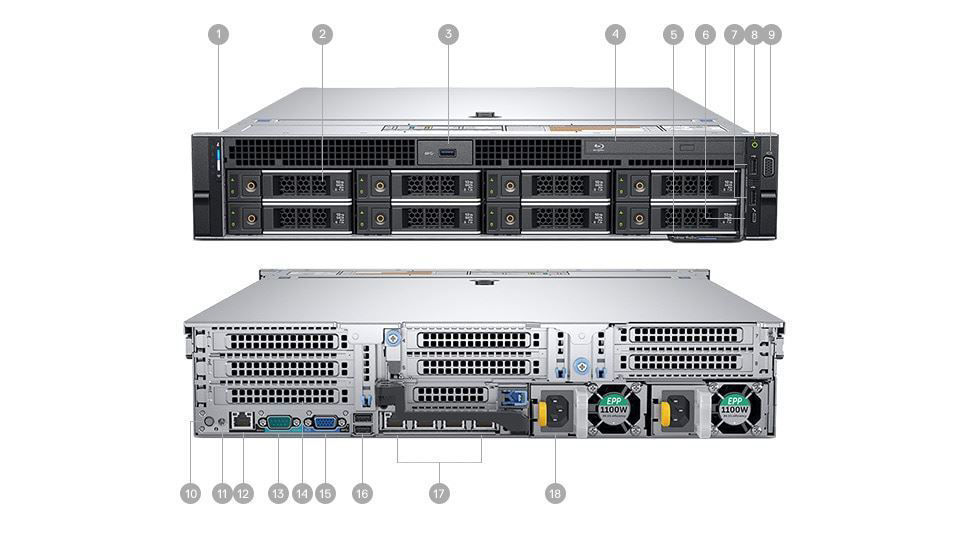 Picture of Precision 7920 Rack Workstation Platinum 8280