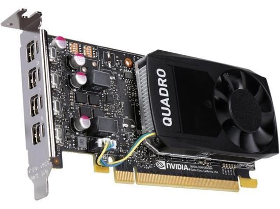 Picture of NVIDIA Quadro P1000, 4GB, 4 mDP to DP adapter